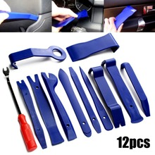 12pcs Car Door Clip Panel Removal Tools Audio Video Dashboard Dismantle Kits Installer Pry Tool Plastic Trim Panel Repair Tools
