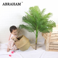 100cm Large Artificial Palm Tree Tropical Real Touch Fake Plant Leaves Plastic Green Palm Leafs For Hawaii Party Wedding Decor