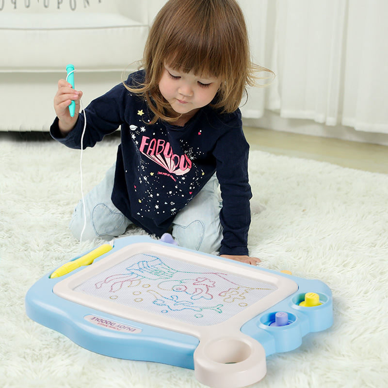 Children Drawing Board Infant Writing Board 1-3-Year-Old Magnetic Toy Baby 2 Unisex Color Extra-large Doodle Board Case