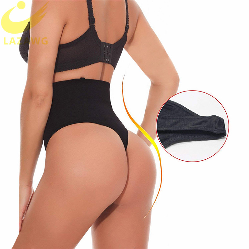 LAZAWG Women Body Shaper Slim Tummy Control PantiesThong Panty Seamless Shapewear Sexy Butt Lifter Briefs Waist Trainer Fajas