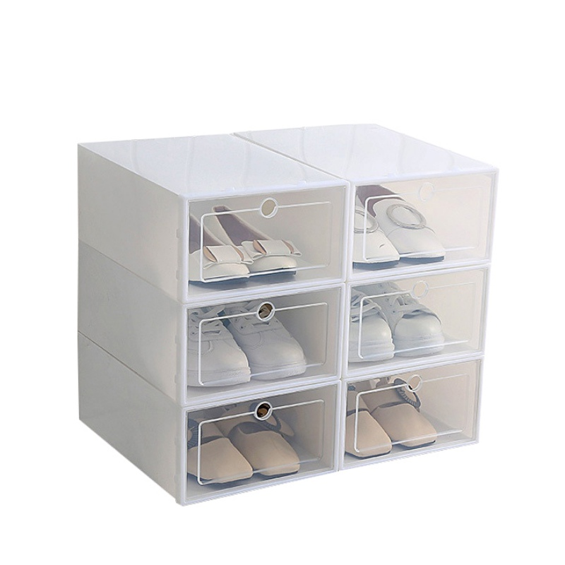 Foldable Shoe Box Organizer for Easy Storage of Shoes with Drawers 2