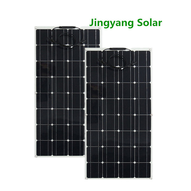 200W เท่ากับ 2 PCS 100W แผงพลังงานแสงอาทิตย์ Monocrystalline SOLAR CELL พลังงานแสงอาทิตย์ 12 V แบตเตอรี่ Charger สำหรับ RV บ้านเรือ 200W 300 W