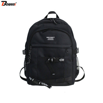 Junior High School Bags for Boys Teenage Student Men Backpack School Women Campus Street Cool Teen Bookbags Large Capacity fashionable backpack for men pu waterproof backpack for high school students campus schoolbags large capacity computer