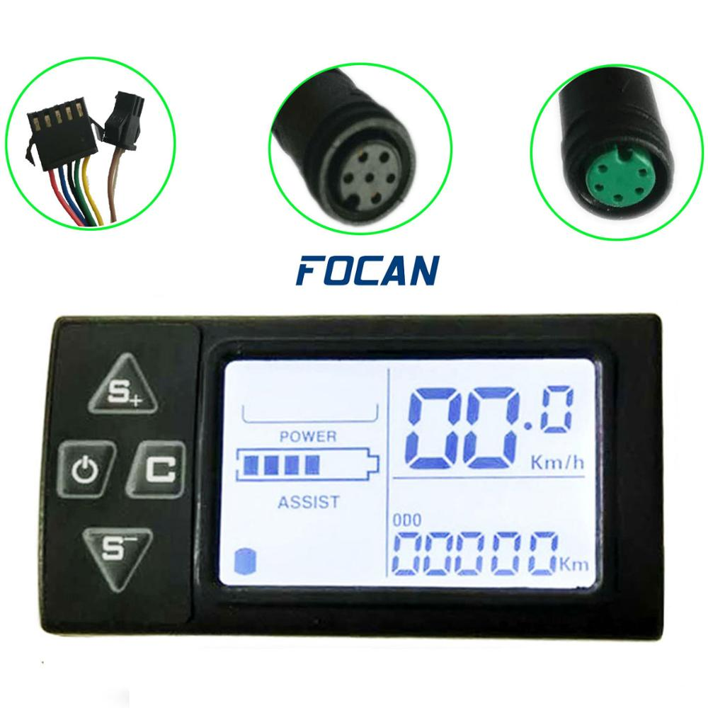 36V//48V LCD Ebike Display with waterproof plug for Electric Bike bldc Controller