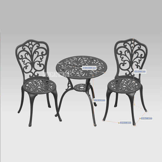 American Garden Style Three-Piece Tables And Chairs 4