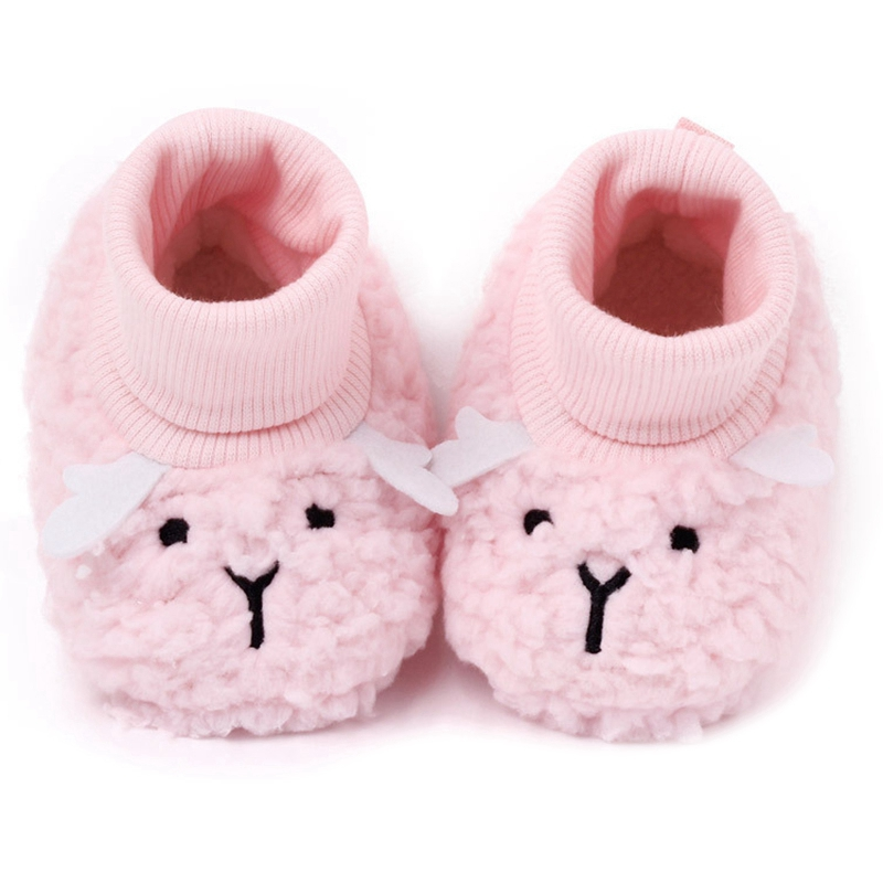 Baby Cotton Shoes, Warm Shoes, No Shoes, Baby Lamb Shoes, Plus Velvet Shoes, Soft Toddler Shoes