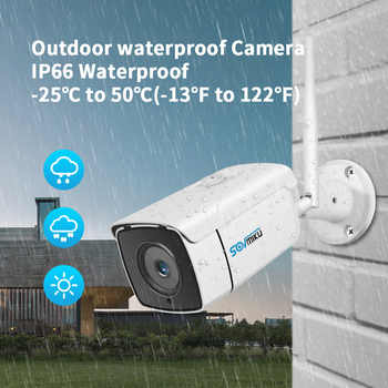 H.265 1080P Wireless CCTV System 4pcs 2MP Outdoor Wifi IP Camera 8CH NVR Recorder Video Security Camera System Surveillance Kit