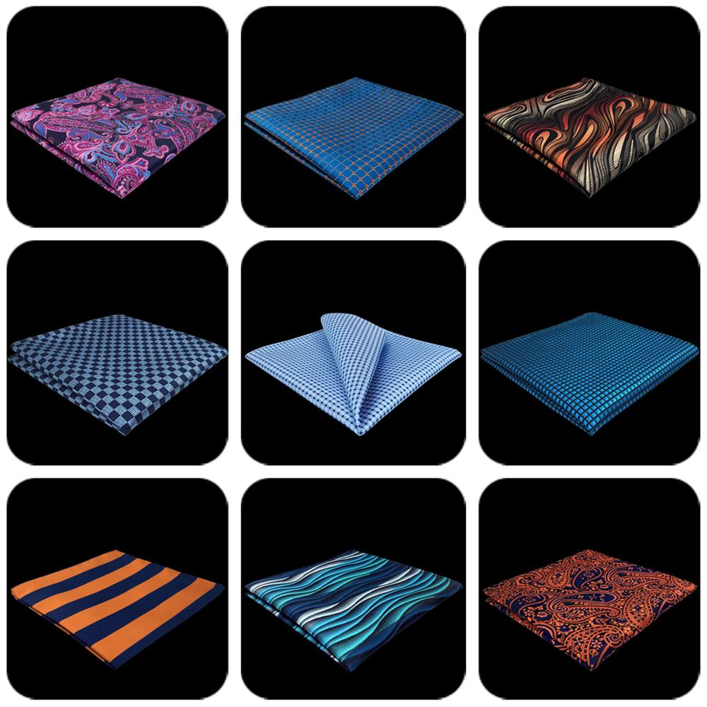 Mens Pocket Square Paisley Dots Multicolor Wedding Handkerchief Business Fashion Hanky