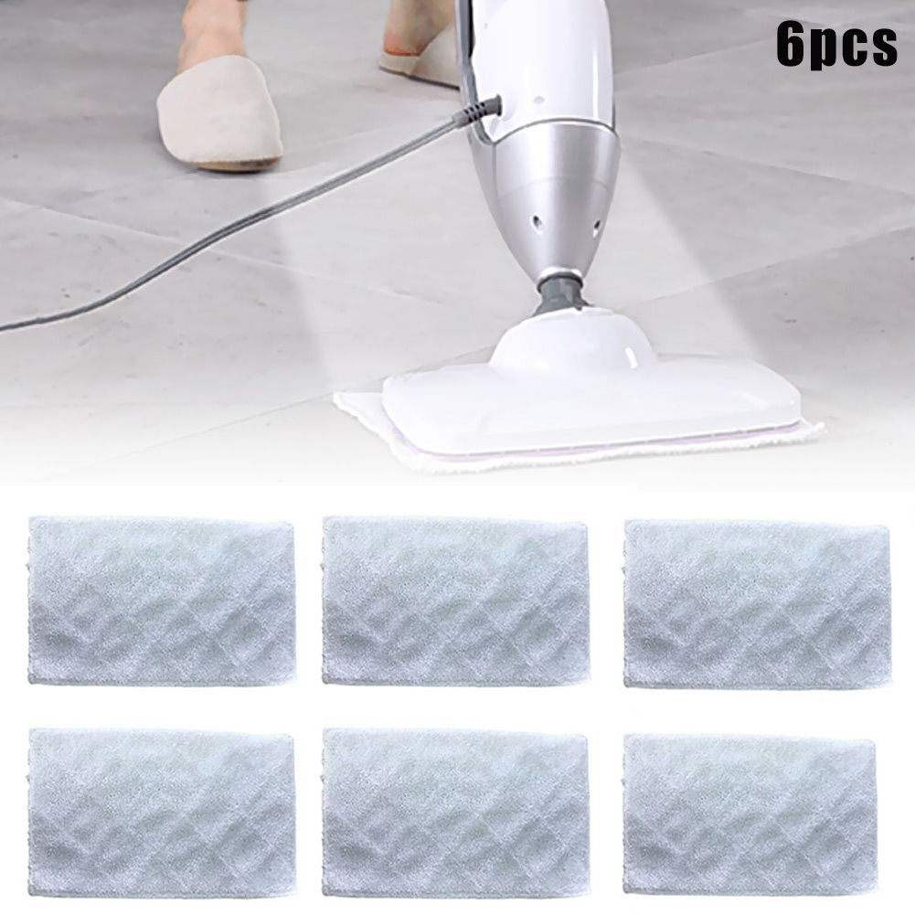 Replacement Steam-Cleaning For Light-'n' Easy S3101 66CY Mop-Pads 6pcs