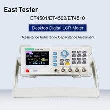 Настольный LCR тестер ET4501/ET4502/ET4510 LRC, цифровой мост, измеритель частоты, емкости и сопротивления, 10 кгц-100 кгц