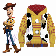 Kids Woody Toy Story Costume Boys Halloween Christmas Hoodies Sweatshirt Buzz Lightyear CowBoy Cosplay Clothing