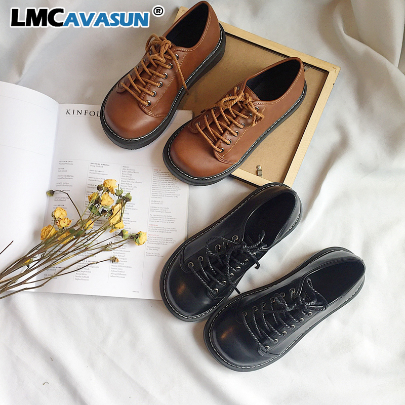 LMCAVASUN/демисезонные оксфорды на плоской подошве; женская обувь; новые туфли из лакированной кожи; женские повседневные туфли на плоской подо...