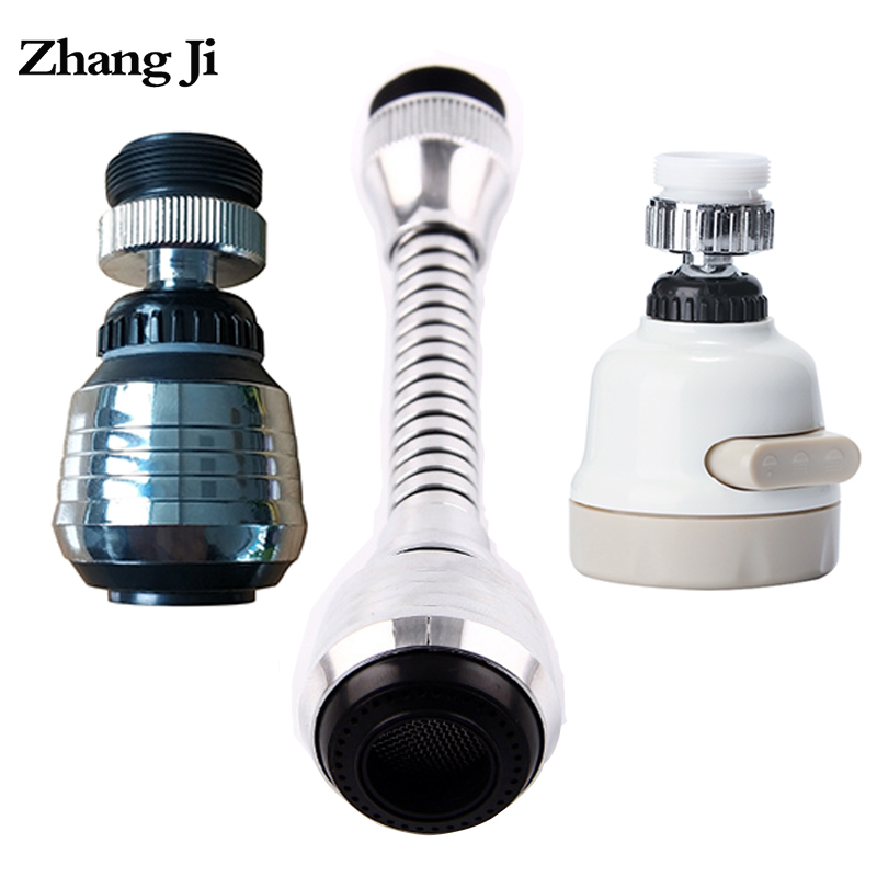 Zhang Ji Kitchen Faucet Aerator 360 Degree Rotatable Bubbler Filter Water Saving Shower Head Nozzle Flexible Tap Connector