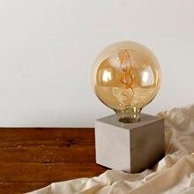 Цементная квадратная светодиодная лампа атмосферная модная настольная