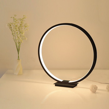 LED Modern Touch Table Lamp Circular Simple Acrylic Desk Lamp For Living Room Night light for Bedroom Dimmable Bedside Lamp modern desk lamp personality study desk light simple living room light creative dormitory lamp iron art bedroom bedside lights