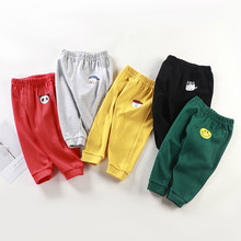 Casual Baby Kids Boys Girls Long Trousers Cotton Autumn Sport Pants 3 6 9 12 Months Toddler Children's Clothing(China)