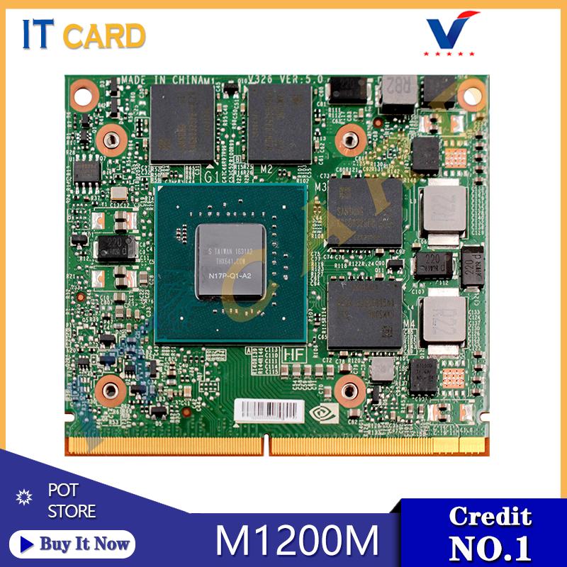 Quadro M1200M M1200 GDDR5 4GB Video Graphics Card N17P-Q1-A2 With X-Bracket For Dell M4800 M7510 HP ZBook15/17 G3 100% Test Well
