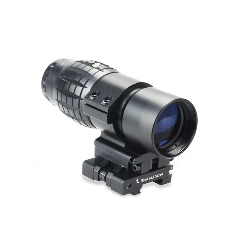 DREAMY Airsoft Tactical 3x magnifier Riflescope 3X30mm Magnifying Scope Focus Adjusted With Flip Up Mount For Hunting CS Game