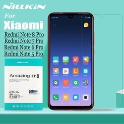 Redmi Note 8/7/6/5 Pro ochraniacz ekranu ze szkła hartowanego Nillkin 9H twarde jasne bezpieczeństwa szklana dla Xiaomi Redmi uwaga 8 7 6 5 Pro Film w Etui do ekranu telefonu od Telefony komórkowe i telekomunikacja na