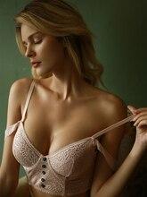 Wriufred dentelle sexy lingerie ensemble de culottes ceinture femme jante gilet style soutien gorge fille ultra mince soutien gorge sous vêtement confortable