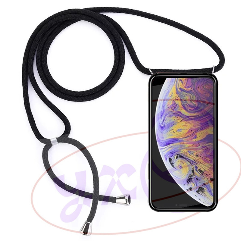 Case for Samsung Galaxy S6 S7 Edge Plus S3 Duos Neo i9300i S4 S5 Mini S8 S9 Plus Phone Cover Lanyard Necklace Shoulder Strap image