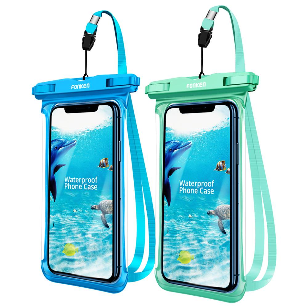 FONKEN Full Transparent Waterproof <font><b>Case</b></font> for Phone Rainforest desert snow Arc Side Dry Bag Underwater Swim Pouch Mobile Covers image