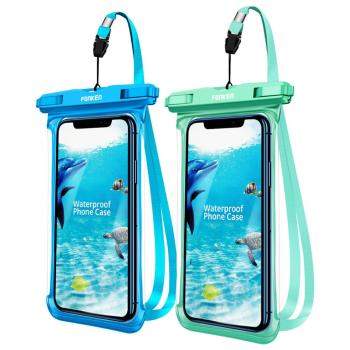 Full Display Waterproof Case for Phone HD Transparent Rainforest desert snow Dry Bag Underwater Swim Pouch Mobile Covers image
