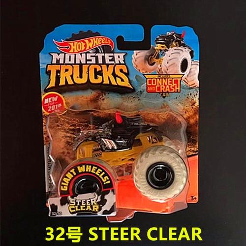 1: 64 оригинальные горячие колеса гигантские колеса Crazy Barbarism Монстр металлическая модель грузовика игрушки Hotwheels большая ножная машина детский подарок на день рождения - Цвет: 32 STEER CLEAR