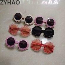 2020 ретро цветочные детские солнцезащитные очки модные милые пластиковые солнцезащитные очки для мальчиков розовые черные солнцезащитные ...