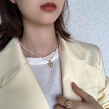 цена Beautiful Butterfly Pendant Necklace 925 Sterling Silver Pearl Chain Chocker Necklace 18k Gold Necklace For Women Fine Jewelry онлайн в 2017 году