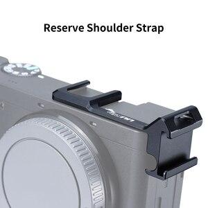 Image 2 - UURig podwójny uchwyt mocujący do butów zimnych przedłużyć wspornik do uchwytu do mikrofonu światło LED do kamery Sony A6000 A6300 A6500 A6400 DSLR
