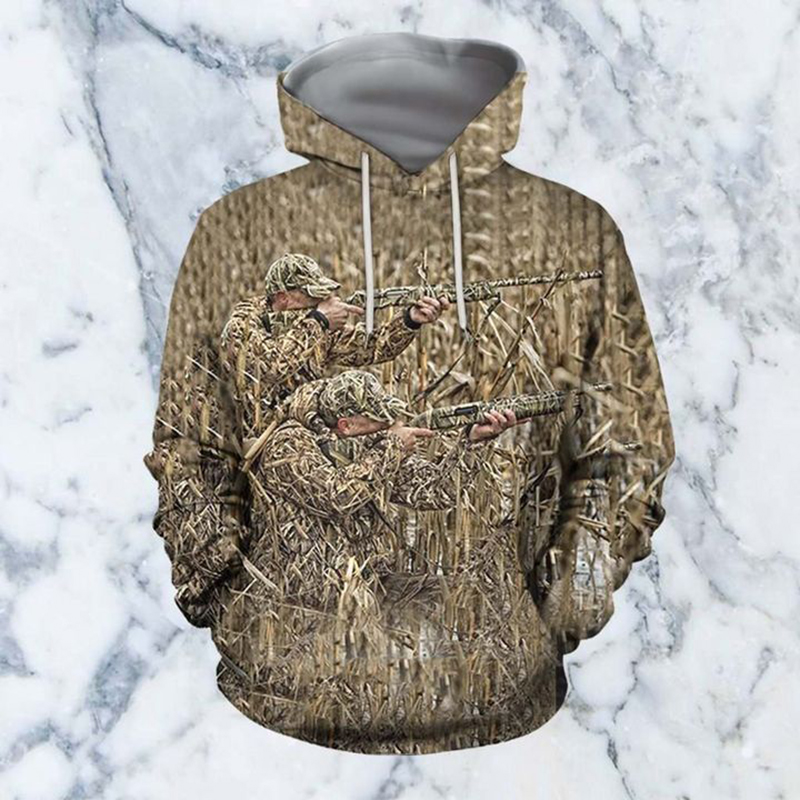 PLstar Cosmos 2020 Hot Fashion Men 3D Hoodie Print Hunting Duck Hooded Sweatshirts Unisex Casual Streetwear Hoody Dropping-5