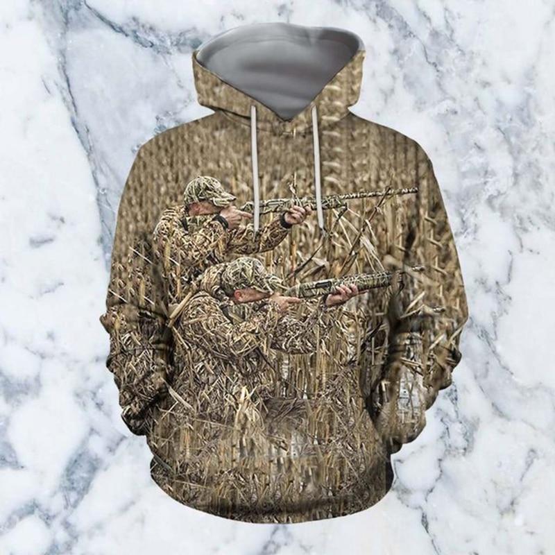 PLstar Cosmos 2020 Hot Fashion Men 3D Hoodie Print Hunting Duck Hooded Sweatshirts Unisex Casual Streetwear Hoody Dropping-5