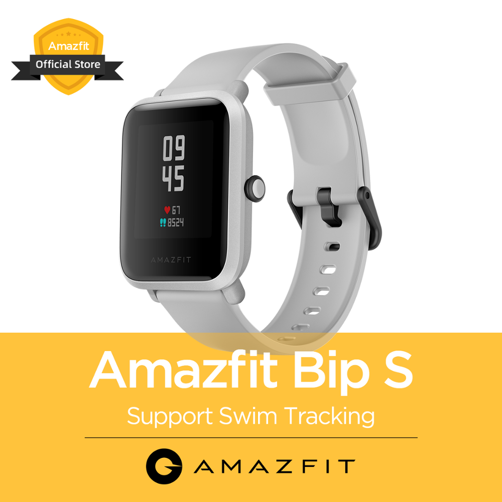 In Stock NEW 2020 Global Version Amazfit Bip S Smart Watch 5ATM Smartwatch GPS GLONASS Bluetooth For Android Phone
