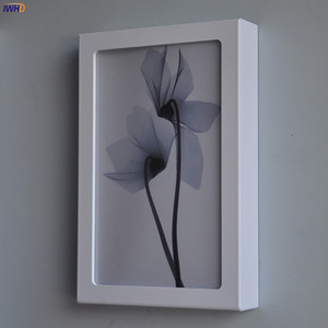 Image 3 - Fashion Arts Painting Wall Lamp Sconce12W Acrylic Modern Flower Wandlamp Bedroom Lights Fixture Stairs Applique Murale Luminaire