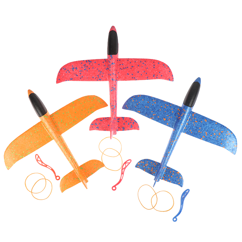 35CM EPP Foam Hand Throw Airplane Rubber Band Ejection Outdoor Launch Glider Plane Gift Interesting Toys For Children Kids Game