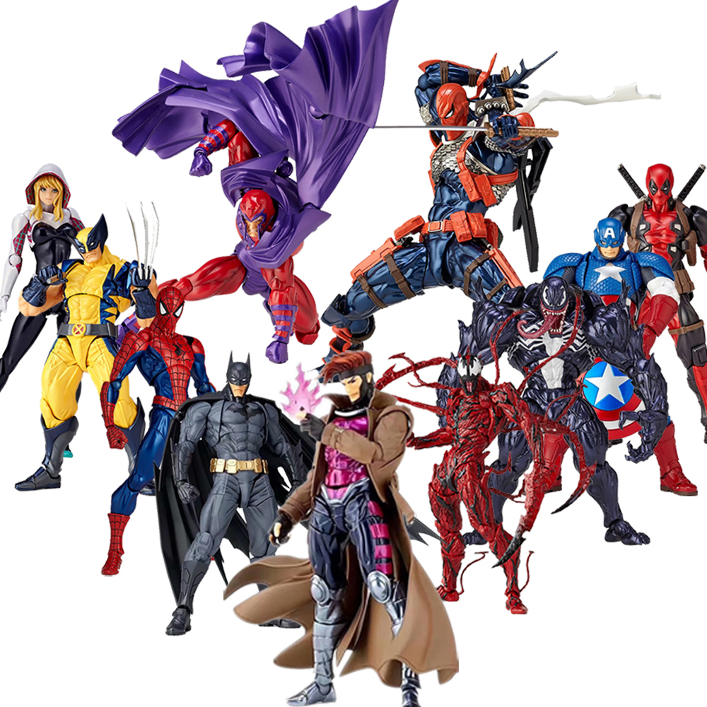Venom Figure Deathstroke Deadpool Carnage Figure The Amazing Wolverine Revoltech Yamaguchi Figure Model Toy Doll Gift