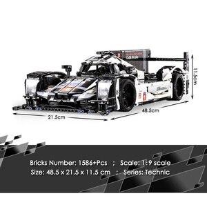 Image 5 - 1586 sztuk Technic Super Sport samochód wyścigowy klocki do budowy MOC zdalnie sterowanym samochodowym zestaw klocków kreator ekspert dla dzieci zabawki dla dzieci prezenty