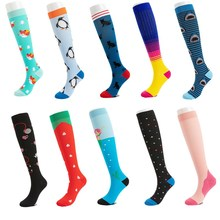 Compression-Sock Marathon Varicose 50-Style Knee-High Women Edema 30 Veins Mmgh Running