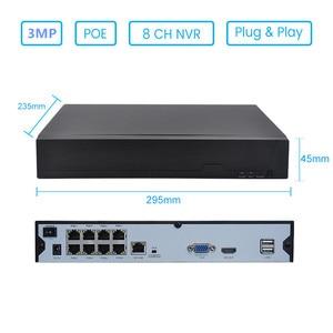 Image 2 - キーパーキーパー 8CH 3MP POE キット 8 個 H.265 システム Cctv セキュリティ屋外防水 IP カメラ監視警報ビデオ p2P