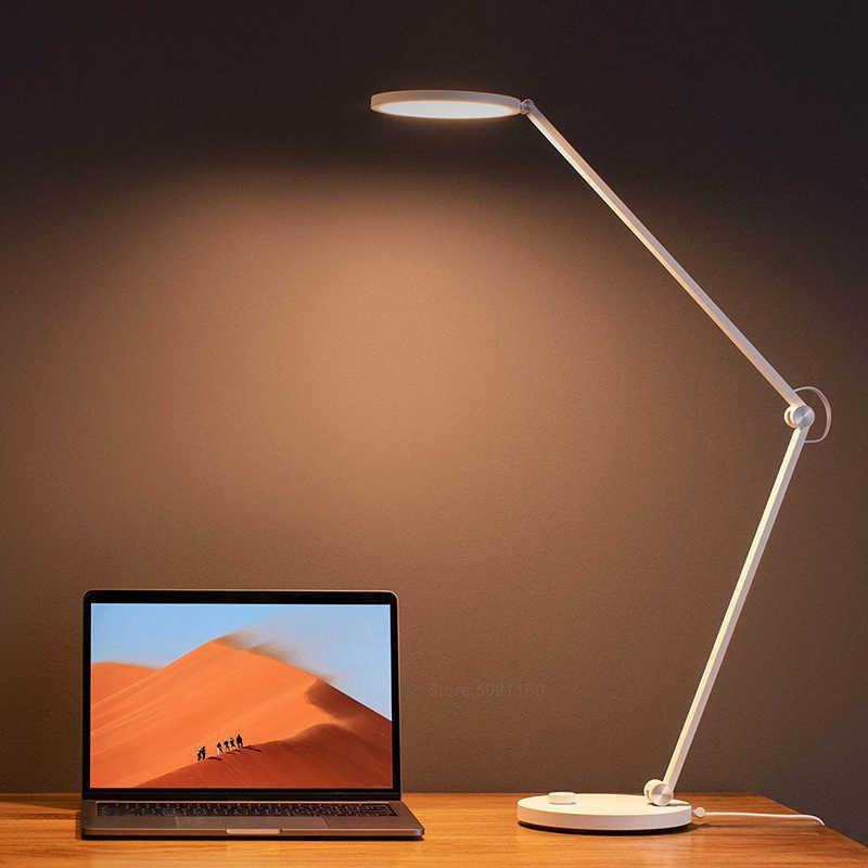 Xiaomi Mijia Mi Lampu Meja Pro LED Smart Membaca Lampu Meja Bending Lipat Bedside Night Light Kantor Mahasiswa Table Light mihome Aplikasi