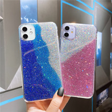Liquid Glitter Case For iphone 11 silicon Coque For iphone XR XS Max XS X 8 7 6S 6 Plus Dynamic Quicksand Star soft TPU Cover quicksand capinha case for iphone 7 8 6s plus makeup cosmetics dynamic liquid hard back cover for iphone x xr xs max capa ipone