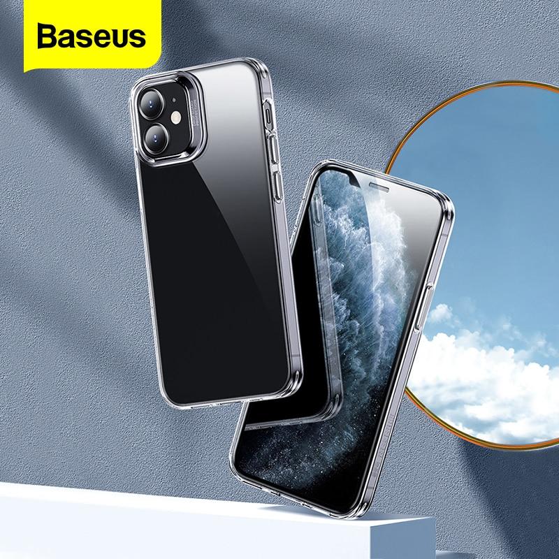 Baseus telefon kılıfı iPhone 12 Pro Max kapak temizle yumuşak TPU şeffaf kılıf iPhone 11 Pro Xs Max X XR Coque Fundas kabuk