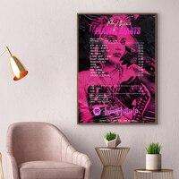 Miley-pintura en lienzo con álbum de recibos de Ciro, pintura Pop, música, cantante estrella, arte de pared, impresiones, ventilador, regalos, decoración para el hogar y la sala de estar
