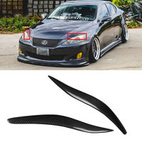 CARCHET 1 Pair Carbon Fiber Headlight Cover Eyelids Eyebrows For Lexus IS250 IS300 2006 2012 Eyelid Eye Lid Cover Trim Eyebrows