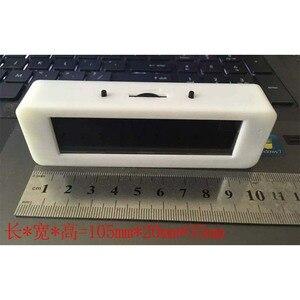 Image 2 - Pantalla de espectro de música OLED para coche, amplificador de Medidor de VU con Control de voz, micrófono, 8 tiempos de efectos de visualización, 3,12