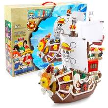 1484pcs One Piece Sunny Pirate Ship Building Block City DIY Creative Bricks Model Figures Educational Kids Toy Compatible Anime цены