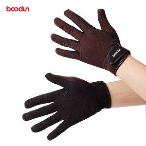 Image 4 - Перчатки BOODUN мужские/женские износостойкие, профессиональные Нескользящие митенки для верховой езды, для мужчин и женщин