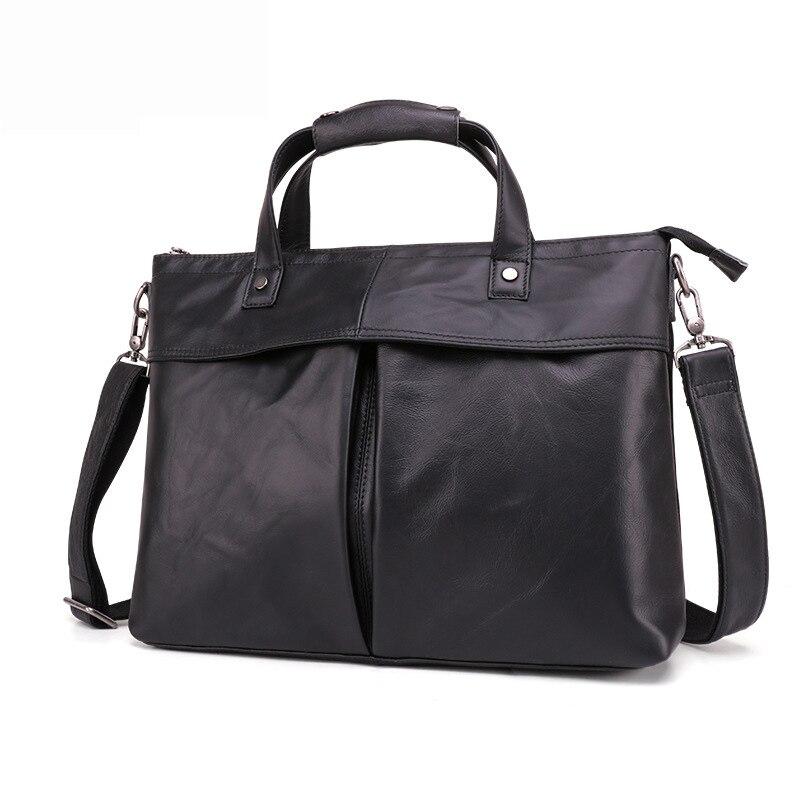 New Style Leather MEN'S Bag Men's Briefcase Casual Fashion Shoulder Handbag Business MEN'S Bag