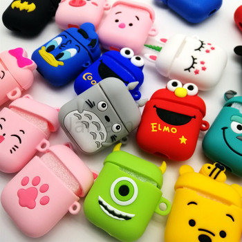 Cute Cartoon Wireless Earphone Case For Apple AirPods 2 Silicone Charging Headphones Case for Airpods Protective Cover 1